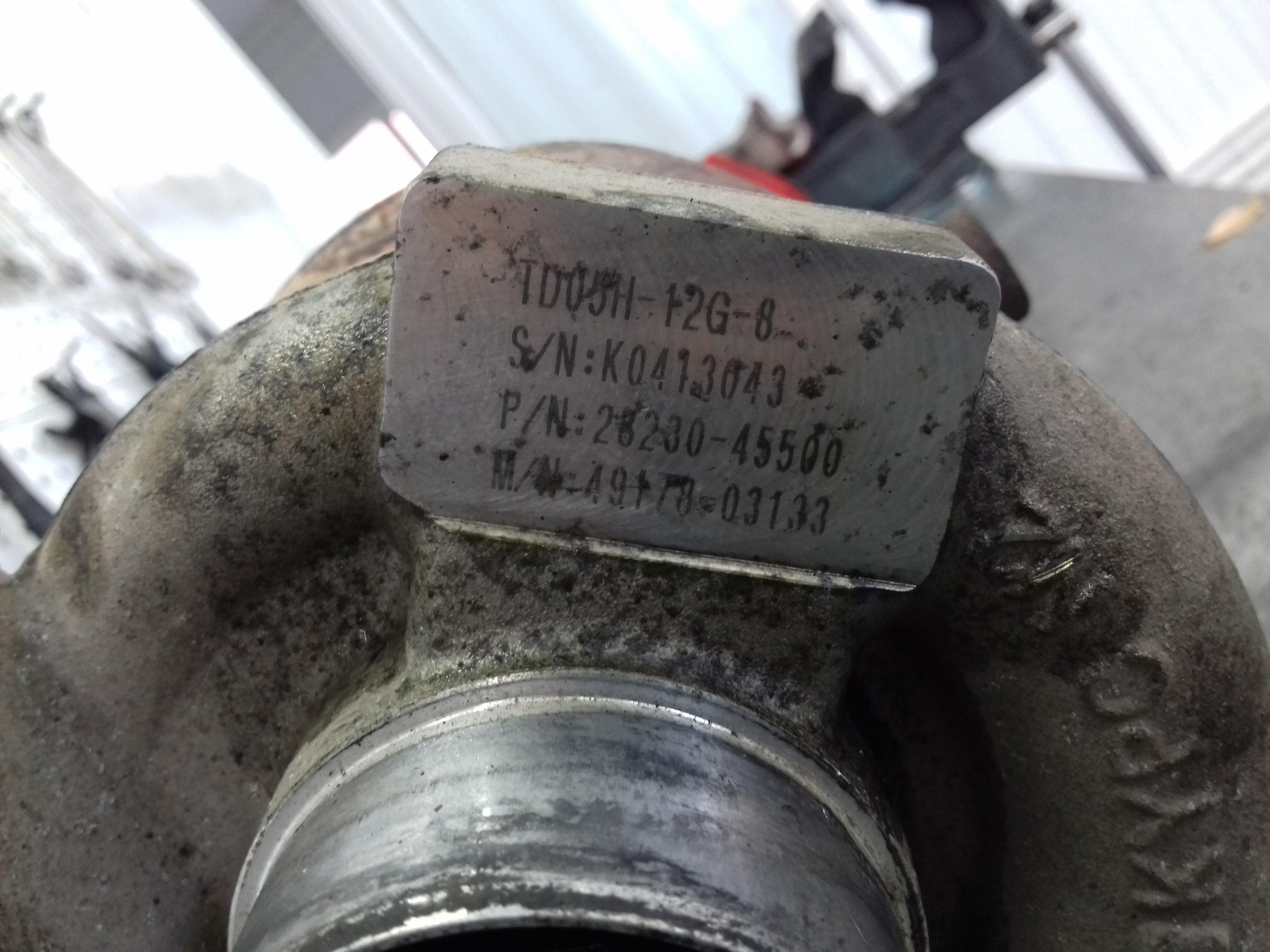 Ремонт турбины на Hyundai HD72