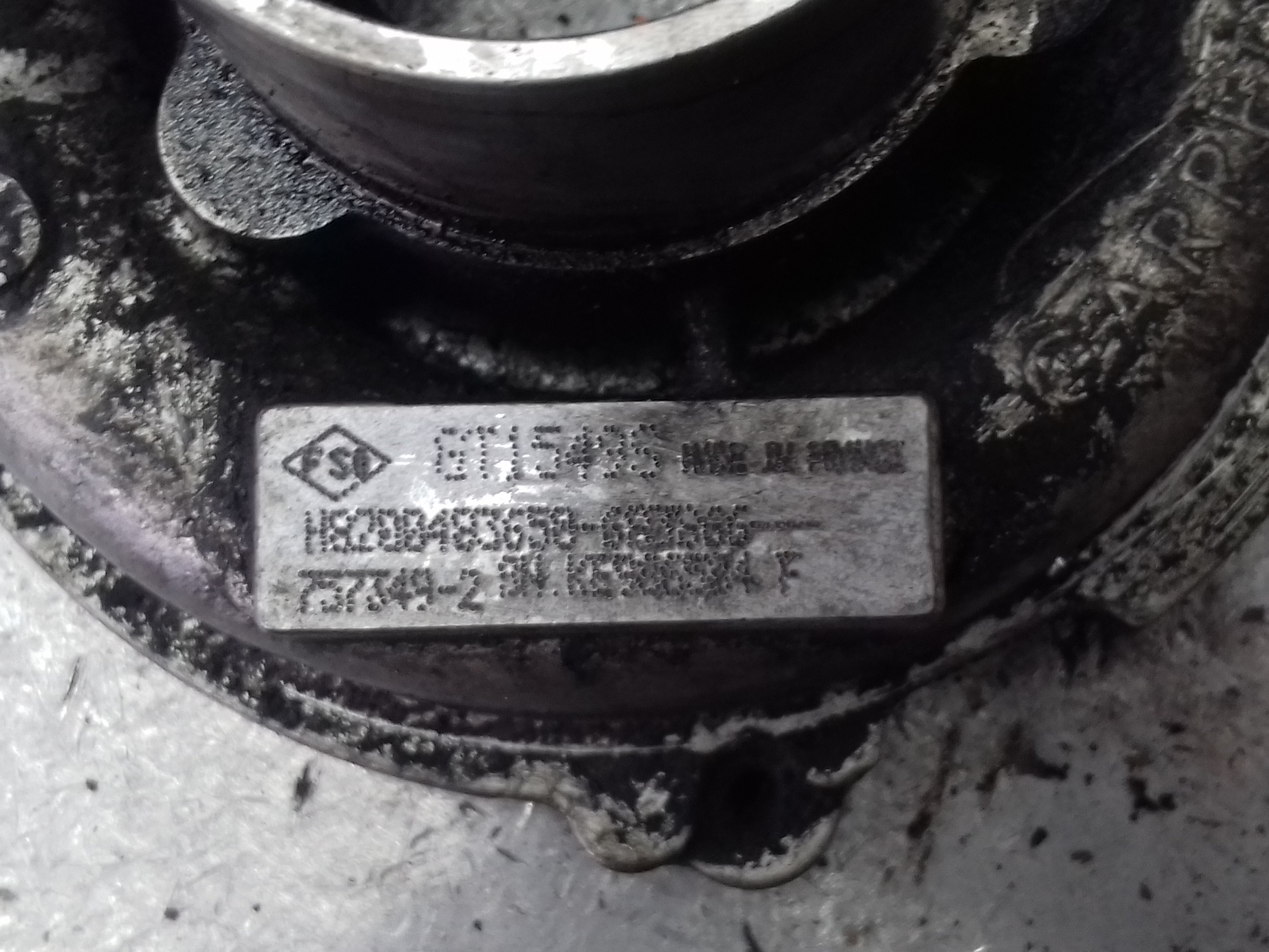 Renault Master, рено мастер, ремонт турбины, 757349-2