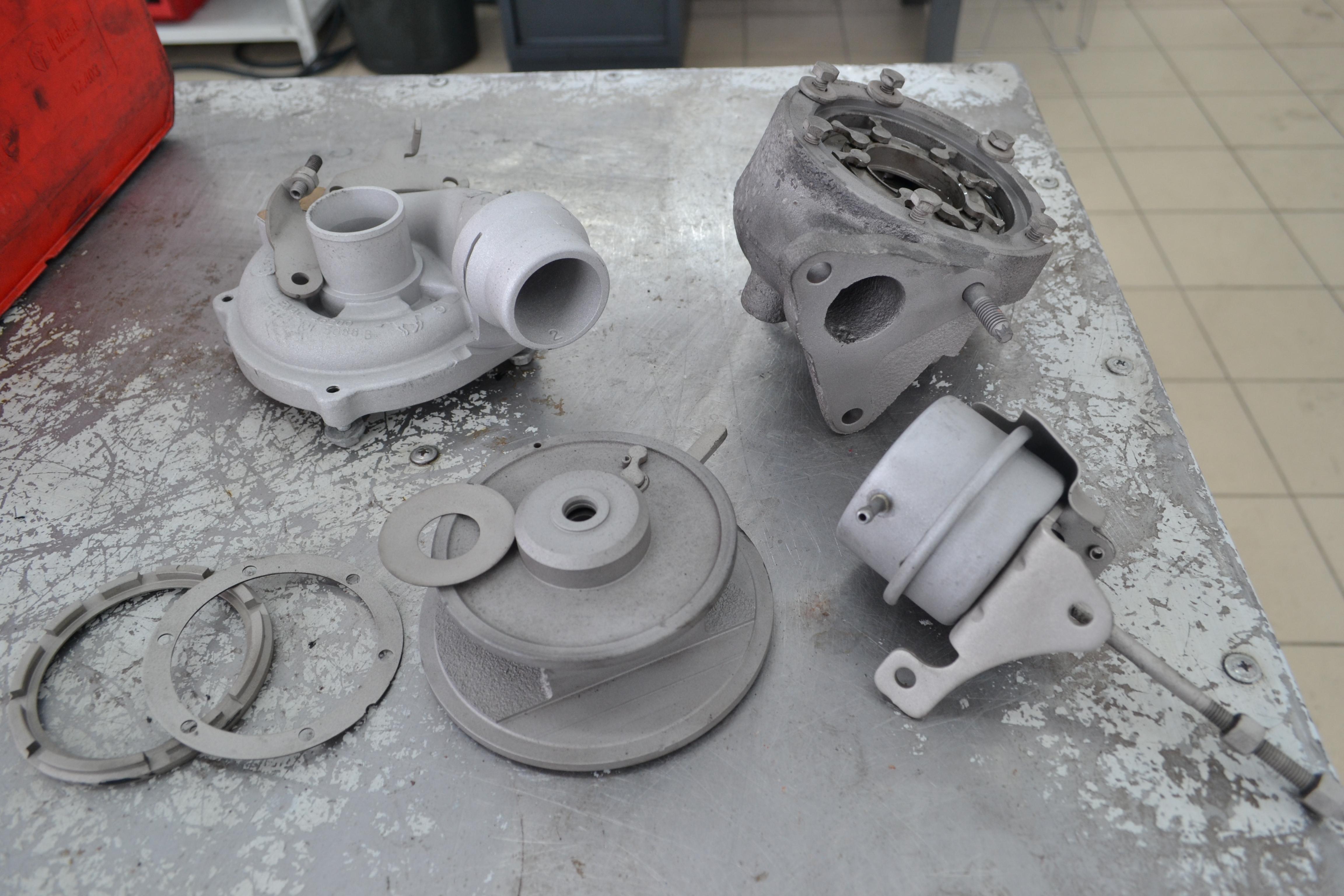 Renault Scenic, сценик, ремонт турбины, 5439-970-0070