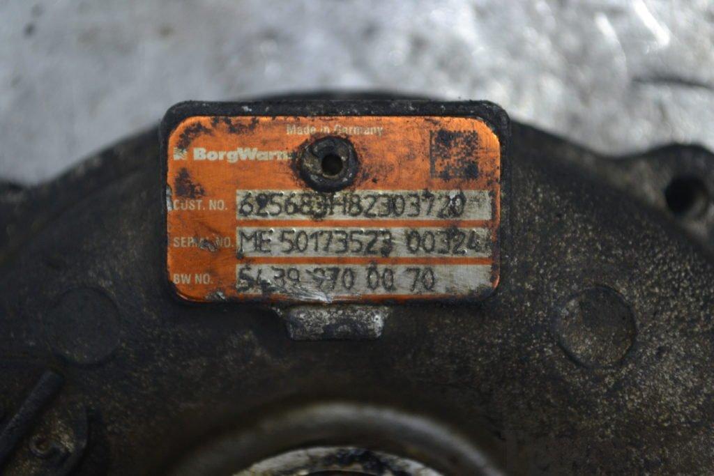 Renault Grand Scenic 2, рено грант сценик 2, ремонт турбины, 5439-970-0070