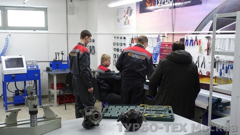 Заводской ремонт турбин легковых и грузовых автомобилей в Москве.
